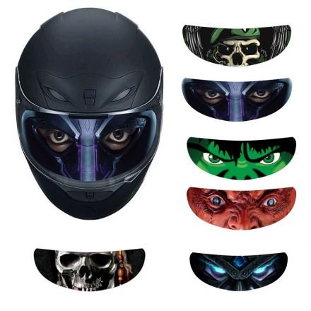 helmet visor sticker large